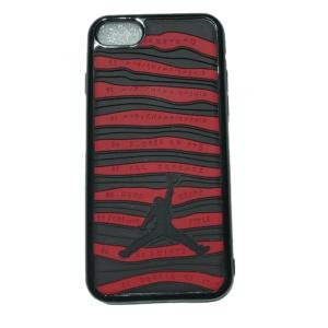 red stripes black mobile cover